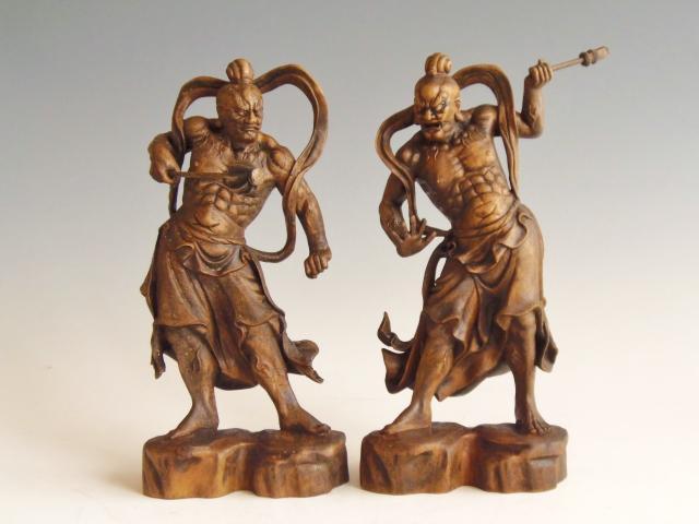 木彫 置物 仏像 金剛力士仁王像