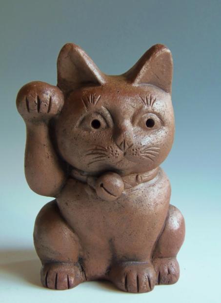 古備前焼 置物 猫