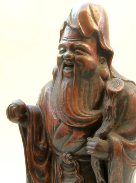 七福神 寿老人 陶器