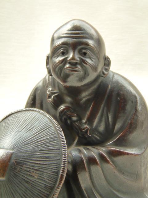 古備前焼 置物 細工物 僧侶
