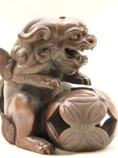 置物 玉獅子