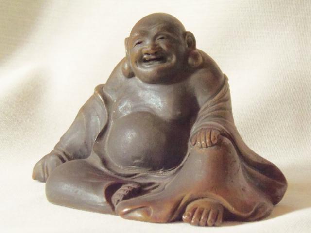 古備前焼 置物 七福神 江戸時代初期 布袋 香炉