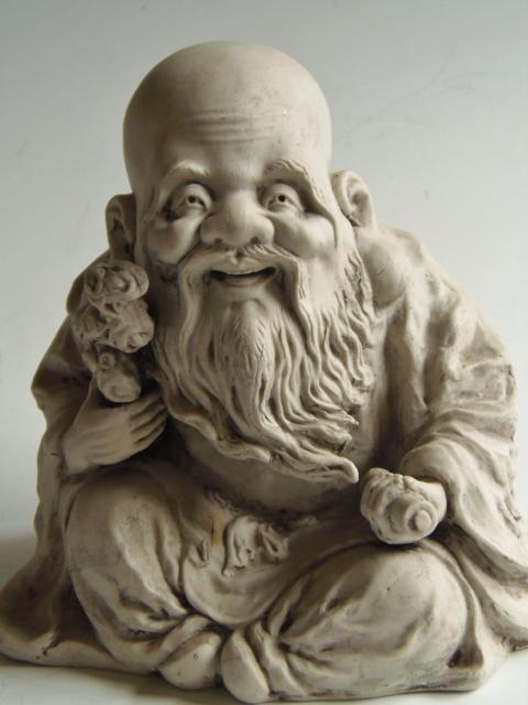 陶器 置物 寿老人