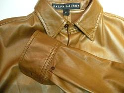 レザージャケットの袖修理
