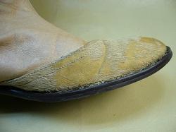 靴の破れ修理