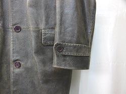 革コートの袖詰め