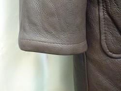 ムートンコート 袖を短く