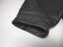レザーコート袖の修理