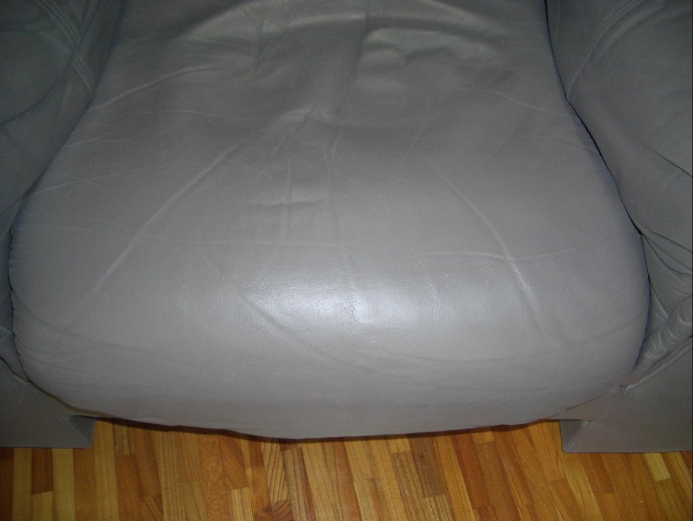 革のソファ座面修理 施工後