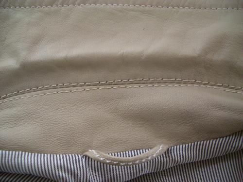 レザージャケットの部分直し・クリーニング修理例 施工後