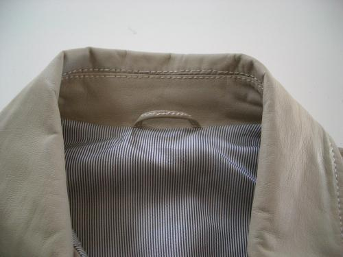 レザージャケットの部分直し・クリーニング修理例 施工後 2
