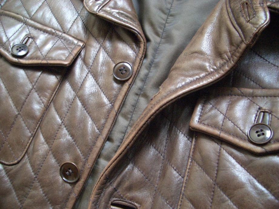 革ジャン・革ジャケットの修理例 3