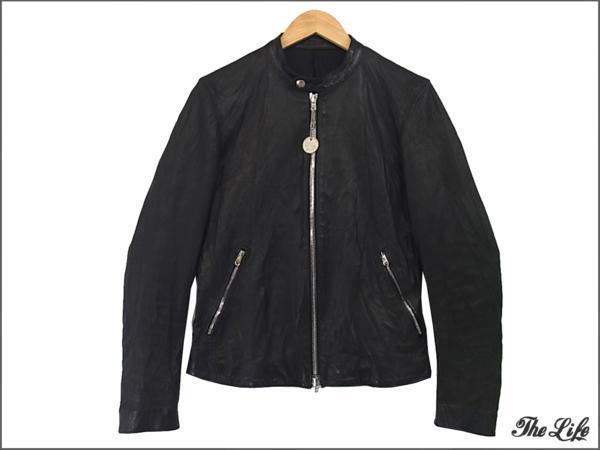 STRUMストラムシングルライダースジャケットS/ブラック/STL001-02/ドメスティックヘビータンドカーフ