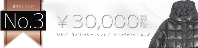 SHARTAN シャルタン レザーダウンジャケット メンズ 3万買取