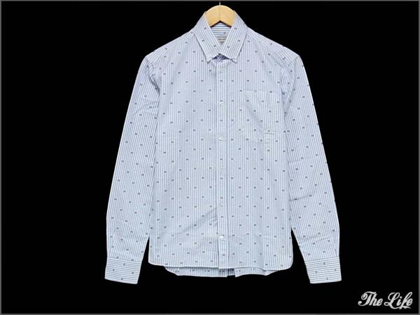 14SS MAISON KITSUNEメゾンキツネクラシックシャツ38 CLASSIC SHIRT WITH POCKET FLAG KMK-0403-A 国内正規品 付属品無し