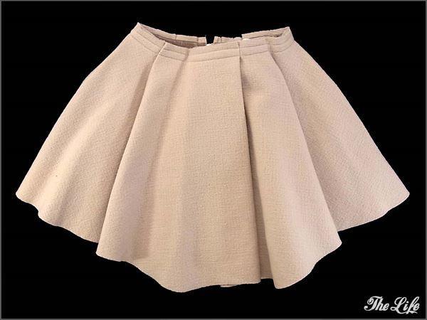 14AW GREED Internationalグリードタックスカート/PNK/S/レディース/タグ付属/Double Compression Wool Skirt
