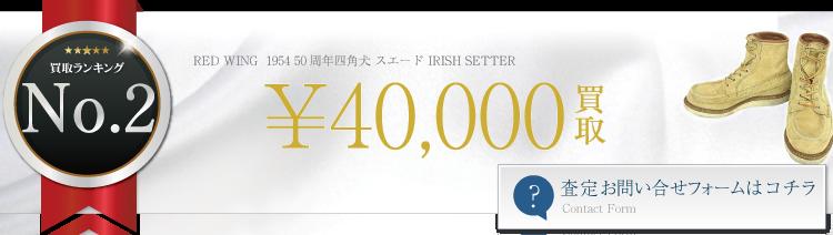 レッドウィング 1954 50周年四角犬 スエード IRISH SETTER 4万円買取 ブランド買取ライフ