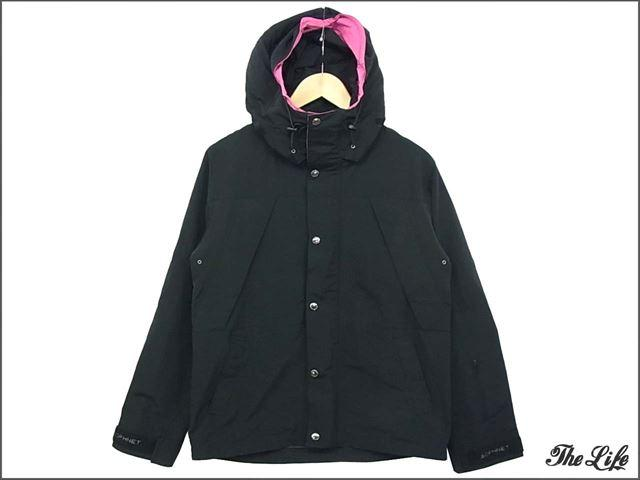 14AW SOPHNETソフネット マウンテンパーカー/黒×ピンクS/SOPH-000052/Mountain Parka