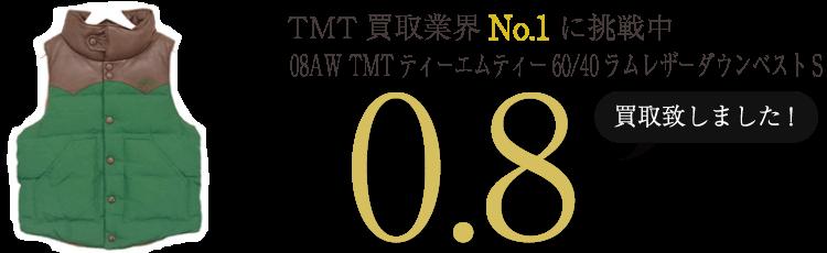 TMT 08AW TMTティーエムティー60/40ラムレザーダウンベストS ブランド買取ライフ