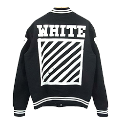 オフホワイト BRUSHED DIAGONALS VARSITY 画像