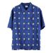 T-N.C RAYON SHT S/S ジオメトリック レーヨンシャツ ブルー~¥22,000