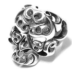 テンダーロイン T-SKULL RING ボルネオスカルリング シルバー画像
