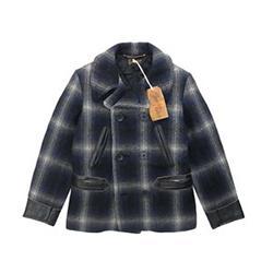 テンダーロイン T-PEA COAT チェック ウール Pコート 画像