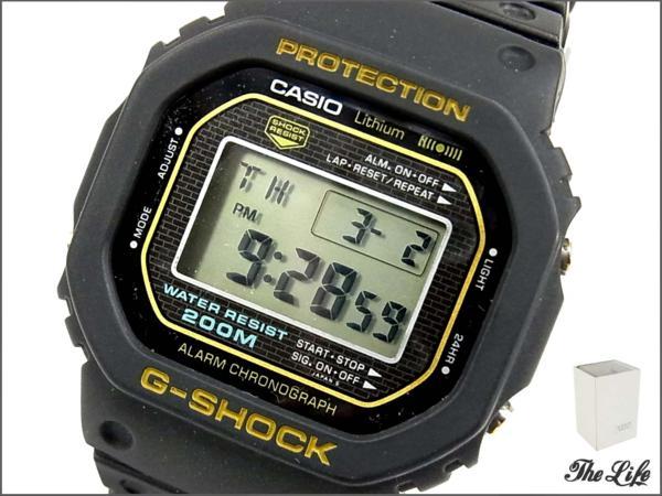 G-SHOCK DW-5000C-1B/初代/ファースト/ゴールド/時計