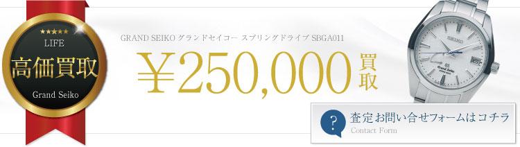 グランドセイコー スプリングドライブ SBGA011査定バナー