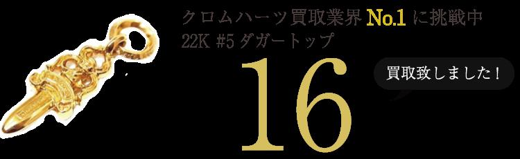 クロムハーツ高価買取!W22K #5ダガートップ高額査定!