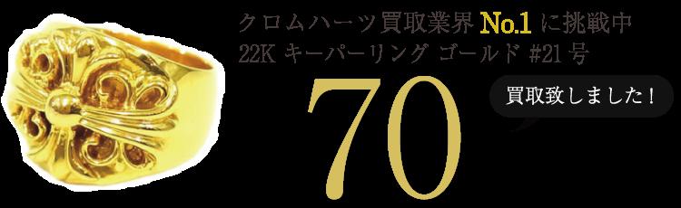 クロムハーツ高価買取!22K キーパーリング ゴールド #21号高額査定!