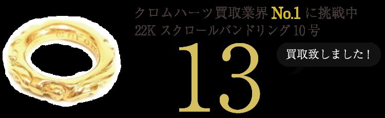 クロムハーツ高価買取!22K スクロールバンドリング10号号高額査定!