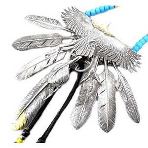 ケンキクチ カスタム EAGLE-4 頭金イーグル ビーズ ネックレス画像