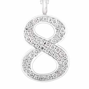 アイファニー ダイヤモンドナンバー ペンダントヘッド画像