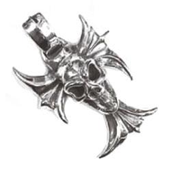 ビルウォールレザー PN856 ゴシッククロス with グッドラックスカル画像