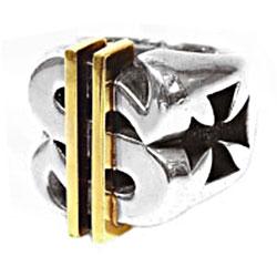ビルウォールレザー $ RING-18K GOLD BARS ダラーリング画像