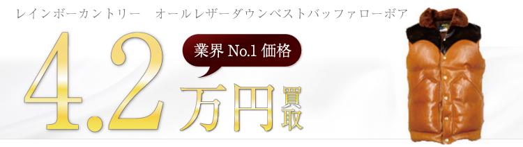 オールレザーダウンベストバッファローボア 4.2万円買取