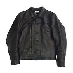 ウエアハウス Black Leather Jacket HC-192 1930s 画像