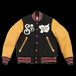 ステュディオダルチザン 袖革 刺繍 スタジャン 画像