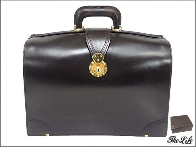 土屋鞄製作所ダレスバッグ ビジネスバッグ ブラウン レザー ブリーフ 純正ブラシ付属 純正保存袋付属 純正外箱付属 鍵付属