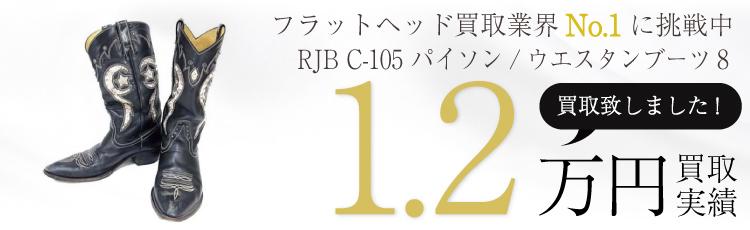 RJB C-105 パイソン/ウエスタンブーツ8/カウボーイ 1.2万円買取 / 状態ランク:B 中古品-可