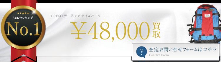 グレゴリー 茶タグ デイ&ハーフ 4.8万円買取 ブランド買取ライフ