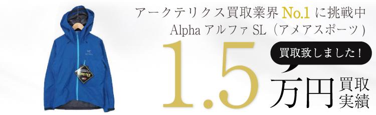 AlphaアルファSLジャケットS 国内正規取扱い品(アメアスポーツ) 1.5万円買取 / 状態ランク:B 中古品-可