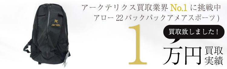 アロー22バックパック タグ付属 国内正規取扱い品(アメアスポーツ) 1万円買取 / 状態ランク:B 中古品-可