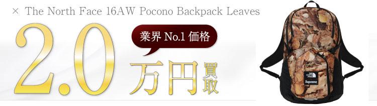 シュプリーム高価買取!16AW Pocono Backpack Leaves / バックパック リーブス