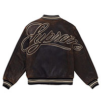 19SS Leather Varsity Jacket画像