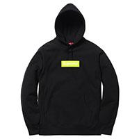 17AW Box Logo Hooded Sweatshirt ボックスロゴ スウェット 黒黄 画像