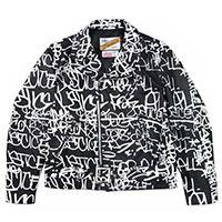 シュプリーム 18AW × COMME des GARCONS SHIRT Schott Painted Perfecto Leather Jacket コムデギャルソンシャツ ショット レザージャケット画像
