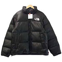 シュプリーム 17AW × THE NORTH FACE ND91702I Leather Nuptse Jacket ノースフェイス ヌプシジャケット画像