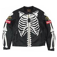 シュプリーム 17AW × VANSON Leather Bones Jacket バンソン レザージャケット画像